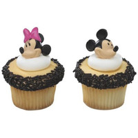 Mickey and Minnie Mouse Cupcake Toppers/Rings