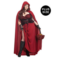 Dark Red Riding Hood Plus Size Adult Costume