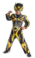 Transformers Age of Extinction +AC0- Bumblebee Toddler Muscle Costume