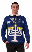Chanukah Light Up Menorah Sweater