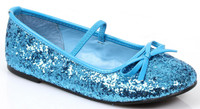 Girl's Blue Sequin Ballet Flat