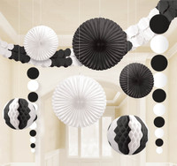 Black & White Paper Decorating Kit