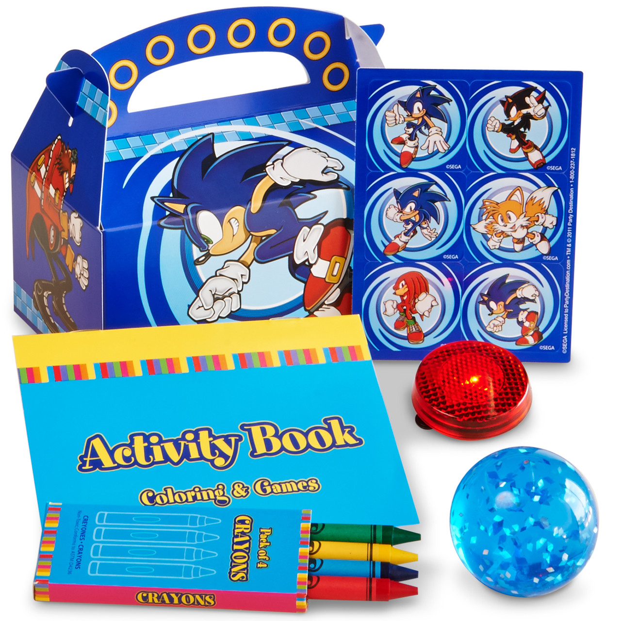 Sonic The Hedgehog Party Favor Box Thepartyworks