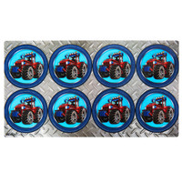 Farm Tractor Large Lollipop Sticker Sheet