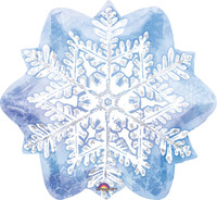 Let it Snow Snowflake Foil Balloon
