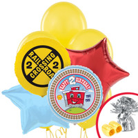 Two+AC0-Two Train 2nd Birthday Balloon Bouquet