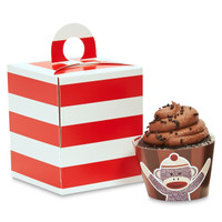 Sock Monkey Red Cupcake Wrapper & Box Kit
