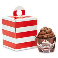Sock Monkey Red Cupcake Wrapper & Box Kit