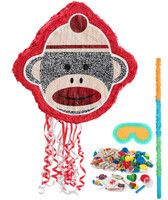 Sock Monkey Red Pinata Kit