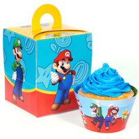 Super Mario Bros. Cupcake Wrapper & Box Kit