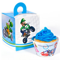 Mario Kart Wii Cupcake Wrapper & Box Kit
