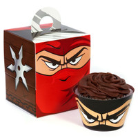 Ninja Warrior Cupcake Wrapper & Box Kit