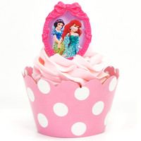 Disney Princess Cupcake Wrapper & Pick Kit