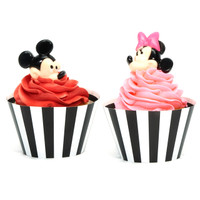 Disney Mickey & Minnie Mouse Cupcake Wrapper & Pick Kit