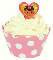 Disney Junior Doc McStuffins Cupcake Wrapper & Pick Kit