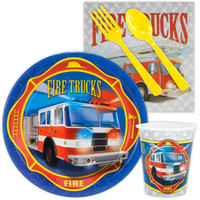 Fire Trucks Snack Party Pack