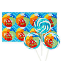 Splashin' Pool Party Deluxe Lollipop Favor Kit