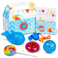 Splashin' Pool Party +AC0- Filled Party Favor Box
