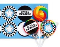 Cops and Robbers Party Lollipop Favor Kit
