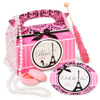 Paris Damask Party Filled Favor Box (Pack of 4)