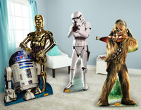 Star Wars Chewbacca, Stormtrooper and R2D2 & C3PO Standup Combo Kit