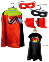 Superhero Boy Black Cape Kit