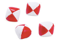 Red and White Kick Balls