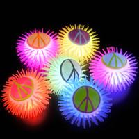 Light Up Peace Sign Puffer Yo Yo Asst. (12)