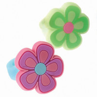 Rubber Flower Rings Asst.
