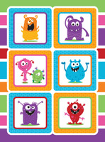Monsters Sticker Sheet (1)