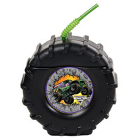 Tire Molded Cup with Monster Jam Stickers