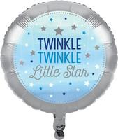 Twinkle Twinkle Little Star Blue Foil Balloon