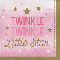 Twinkle Twinkle Little Star Pink Lunch Napkins (16)