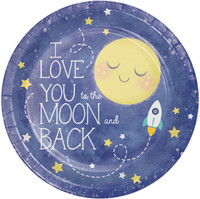 "To the Moon & Back 9"" Dinner Plates (8)"
