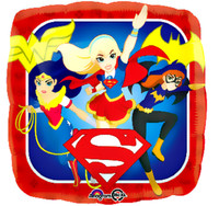 DC Super Hero Girls Theme Foil Balloon