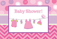 Baby Shower Girl - Shower With Love Invitations (8)