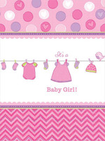 Baby Shower Girl - Shower With Love Plastic Tablecover