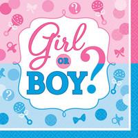 Gender Reveal Beverage Napkins (16)