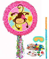 Monkey Love Pull-String Pinata Kit