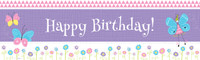Butterfly Party Birthday Banner