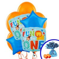 Fun at One Boy Balloon Bouquet