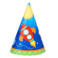 Rocket to Space Cone Hats (8)