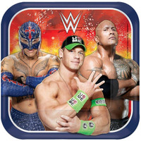 WWE Party Square Dinner Plates (8)