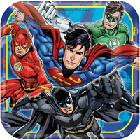Justice League Square Dinner Plates (8)