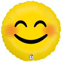 Emoji Smiley Face Foil Balloon