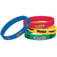 Justice League Rubber Bracelets (4)