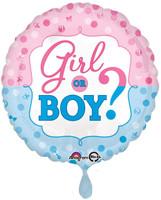 Gender Reveal Foil Balloon