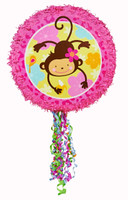 Monkey Love Pull-String Pinata