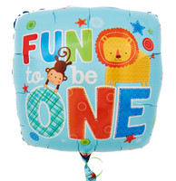 Fun to be One Boy Foil Balloon