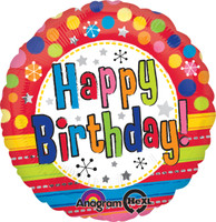 Bright Happy Birthday Foil Balloon